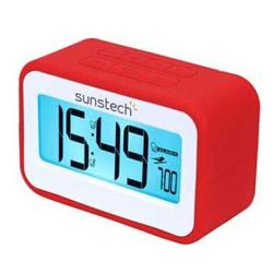 Radio Despertador Sunstech FRD-30U Rojo