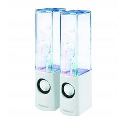 Altavoces PC Omega OG12DSW 2.0 Dancing 6W USB Blanco
