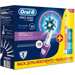Oral B Pack Pro-600 Cross Action Cepillos Eléctricos Braun