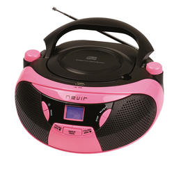 Nevir NVR-475U RADIO-CD/MP3 Rosa