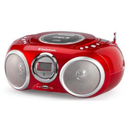 Radio CD/MP3 Audiosonic CD-570 USB 2 X 3 W Rojo