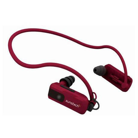 auriculares-waterproof-sunstech-triton4gbred-rojo