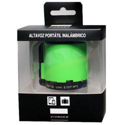 Altavoz Portátil Vivanco SD Altavoz Bluetoth Verde 2.5W