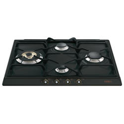 Placa Smeg SR764AO Gas Natural Color Negro