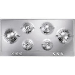 Placa Smeg P106ES Gas Natural Inox Brillante 6 Quemadores