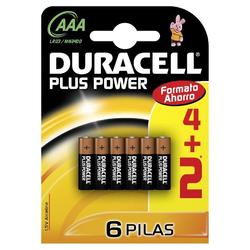 Duracell Pack 4+2 Alcalina Plus Lr03