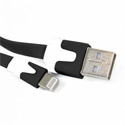 Cable Lightning Omega OUIPLB Plano USB Para Iphone Ipad Mini Negro