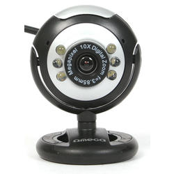 Webcam Omega OUW12SB 12 MegaPixels Luces LED