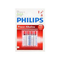 Pila Alcalina Philips Aaa Lr03p4b Powerlife Blistesx4