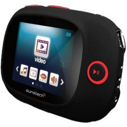 Reprod. Mp4 Sunstech Sporty Ii 4gb Bk Negro con cinta de sujecion
