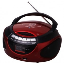 Radio CD/FM Metronic 477128 Rojo Bluetooth