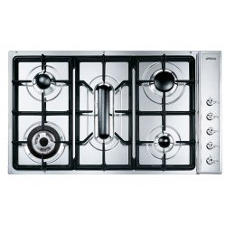 Placa Smeg SE93SGH3 Gas Natural 5 Fuegos 90 cm