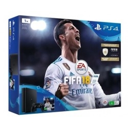 Consola Sony PS4 1TB + Fifa 18 + PS Plus 14 Días Pack
