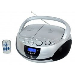 Radio CD Nevir NVR-480UB MP3/USB/Bluetooth Plata