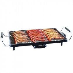 Plancha Grill Orbegozo TB-2203 Base Acero 2.000W Termostato Regulable