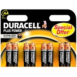 Pack 8 Pilas Duracell Plus MN1500 AA 1.5V Alcalina
