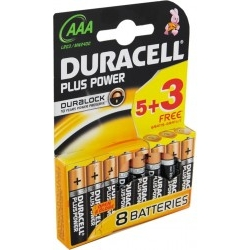 Duracell Plus Power DURLR3P53B 8 Baterias Duralock AAA