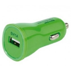 Cargador Vivanco Car Charger 1000MA Verde USB LED