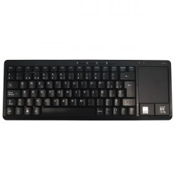 Teclado Vivanco IT-KB FM Inalámbrico Negro Touchpad