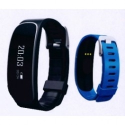 Pulsera Fitness Elco Pd-5005 Negro Azul Bluetooth 4.0 Tactil