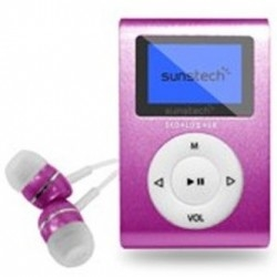 Reproductor MP3 Sunstech DEDALOIII4GBPK Rosa FM 4GB