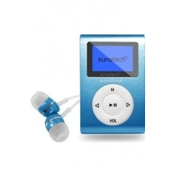 Reproductor MP3 Sunstech DEDALOIII4GBBL Azul FM 4GB