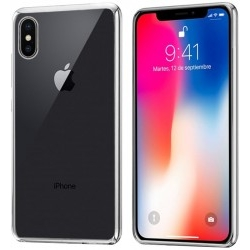 Carcasa Cool Accesorios iPhone X Borde Metalizado Plata