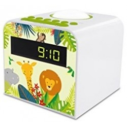 Despertador Metronic Jungle 477044 2 Alarmas Snooze LED