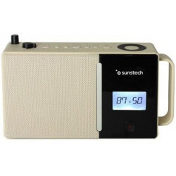 Radio FM Sunstech RPDS500BR Bluetooth Marrón 1800MAH