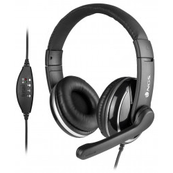 Auriculares con Micro NGS VOX800 USB 1.8M Negro 97DB