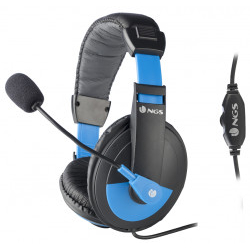 Auricular Con Micro NGS MSX9 PRO AZUL Jack 35MM 2.2M