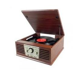 Giradiscos Sunstech Pxr4 Wd Cd Madera