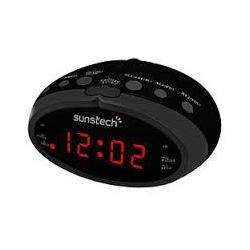 Radio Despertador Sunstech FRD16BK Negra LED Sintonizador Digital