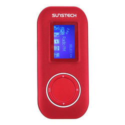 Reproductor MP3 Sunstech Fauno Rojo 4GB MP3 WMA WAV