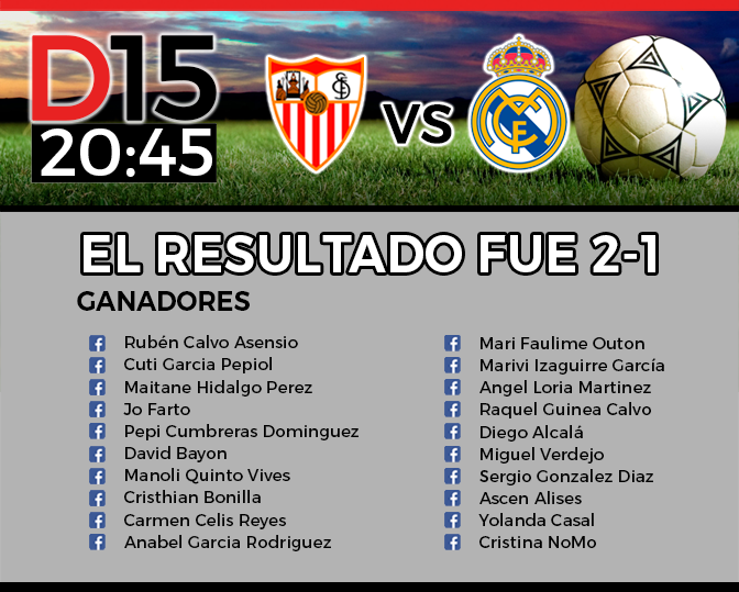 Ganadores Sevilla vs Madrid