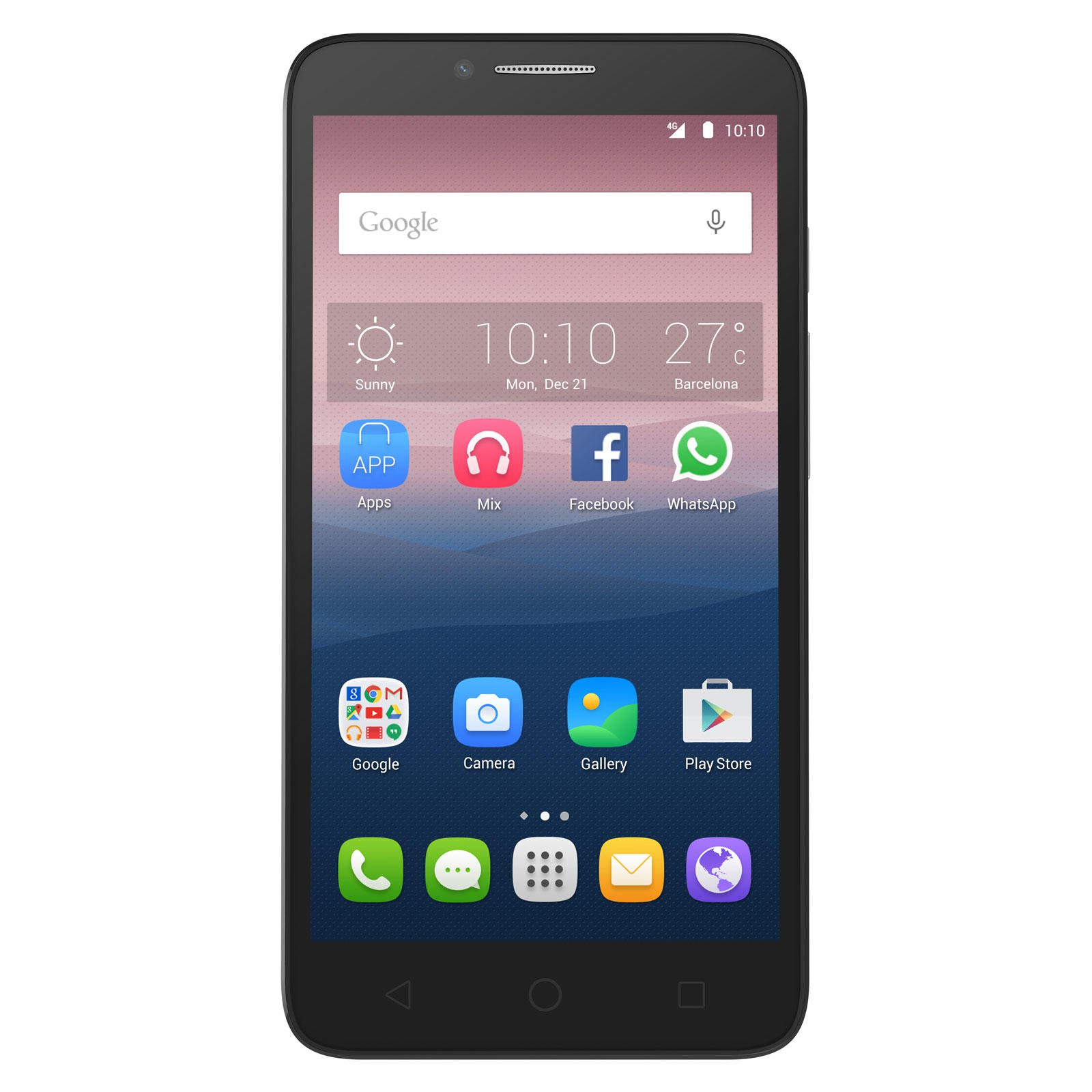 Smartphone Alcatel One Touch POP 3 4G Pantalla 5.5 1.5GB RAM Plata