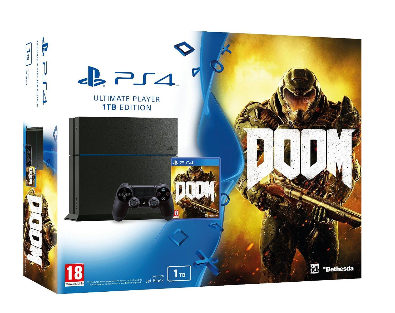 Pack Sony PS4 1TB + Juego DOOM