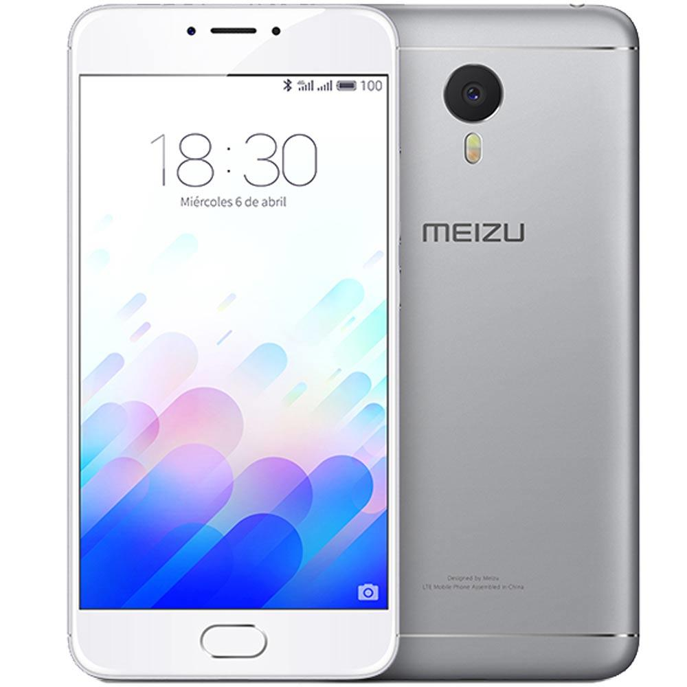 Móvil Meizu M3 NOTE L681H Blanco Plata 13MP 32GB 5.5