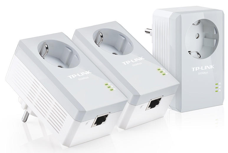 Kit de 3 Adaptadores Tplink AV500 con Enchufe Incorporado