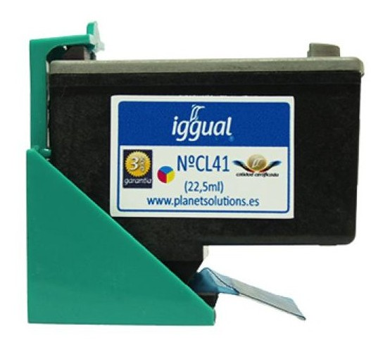 Cartucho tinta color Iggual PSICL41 Canon CL-41