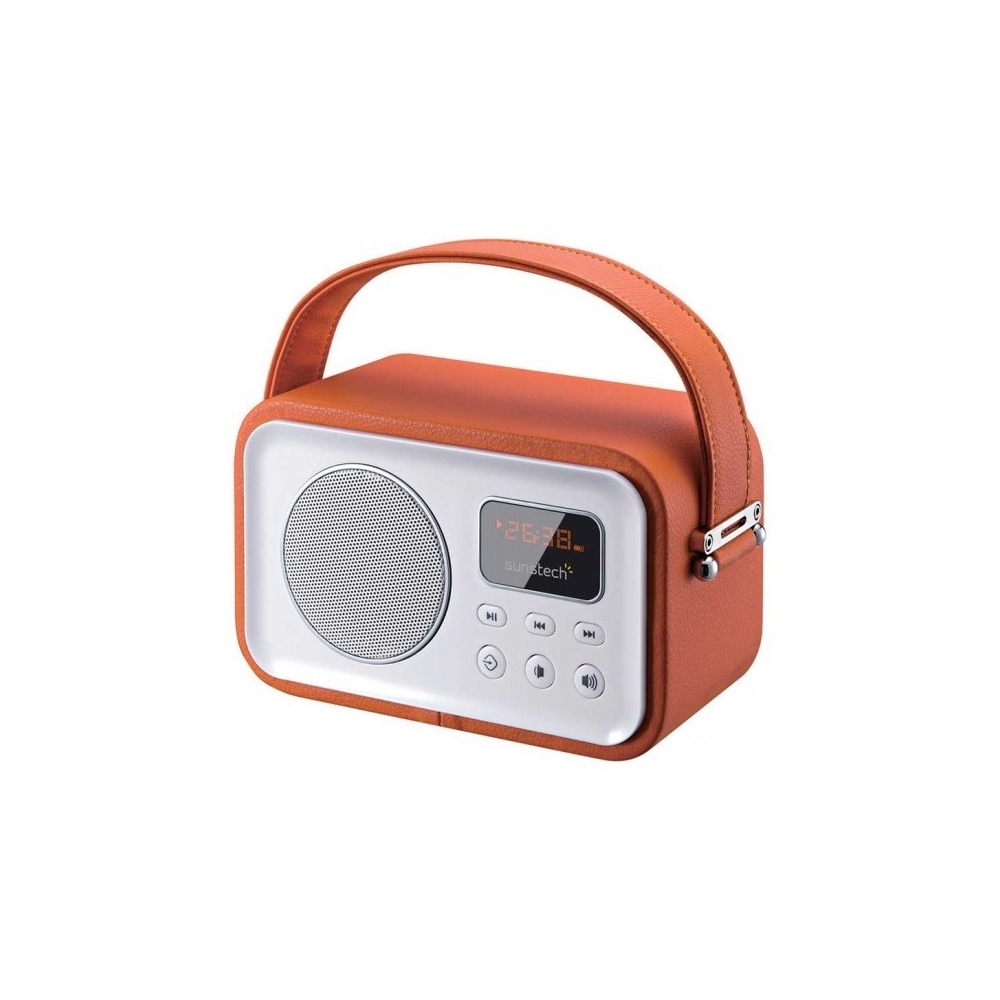 Radio Portátil Sunstech RPBT450OR Naranja 2.5W Bluetooth