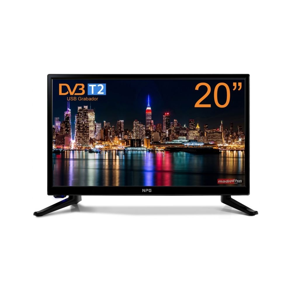 Televisor NPG TV Led 20 Negro 1366x768 20 Pulgadas
