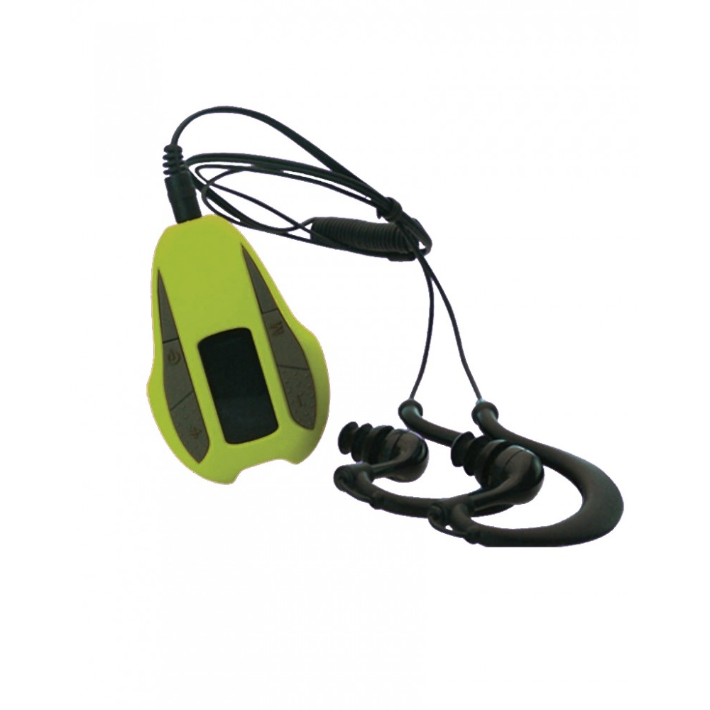 Reproductor MP3 MFI Music Swim PRO Verde Podómetro 15H