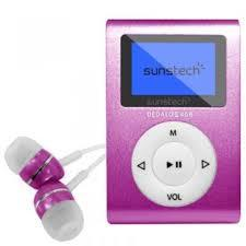 Reproductor MP3 Sunstech DEDALOII4GBPK Rosa 4GB 1.1